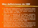 m s definiciones de isw