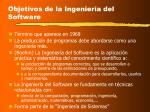 objetivos de la ingenier a del software
