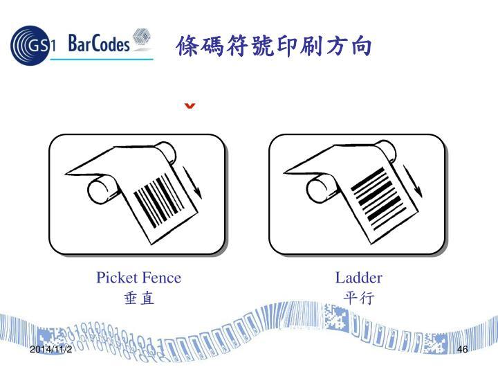 條碼符號印刷方向