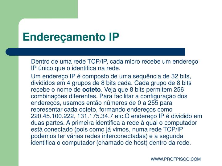 endere amento ip n.
