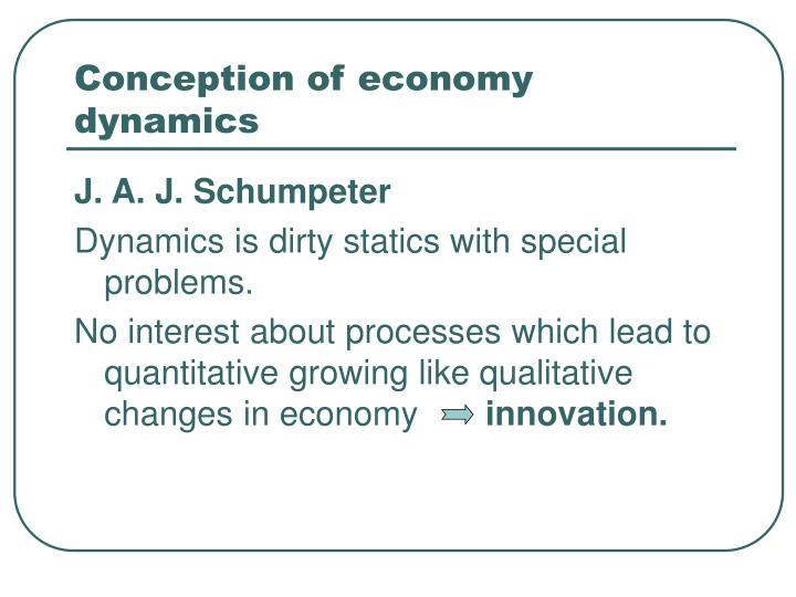 Conception of economy dynamics