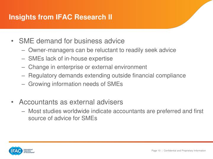Insights from IFAC Research II