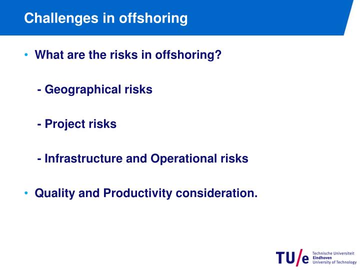 Challenges in offshoring
