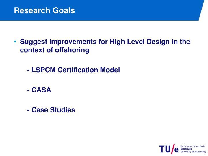 Research Goals