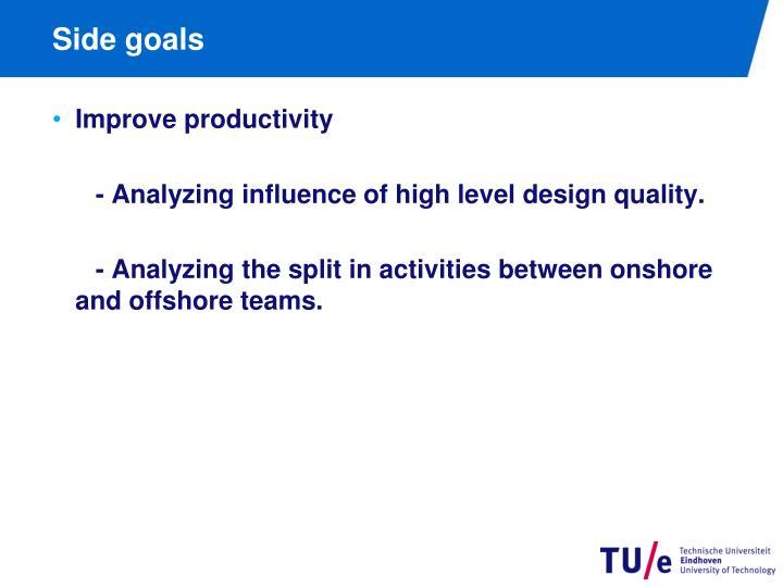Side goals