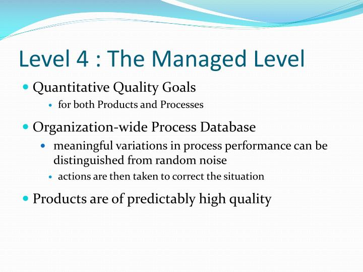 Level 4 : The Managed Level