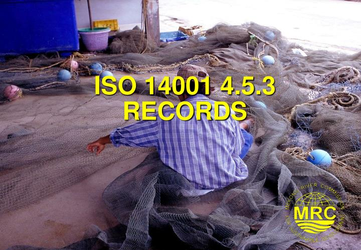 iso 14001 4 5 3 records n.