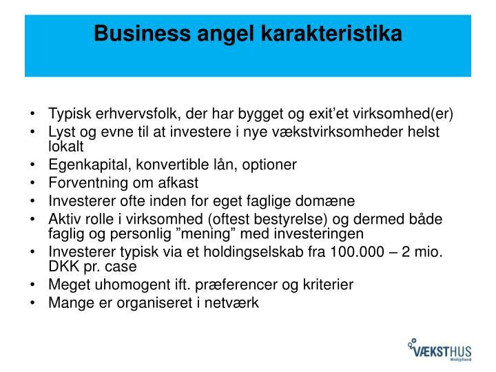 Business angel karakteristika
