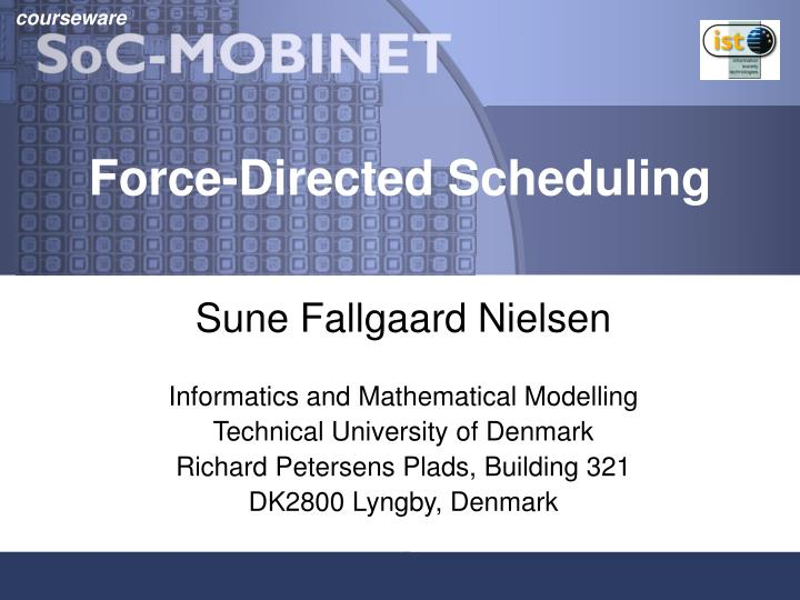 force directed scheduling n.