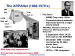 the arpanet 1968 1970 s