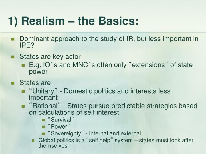 1 realism the basics
