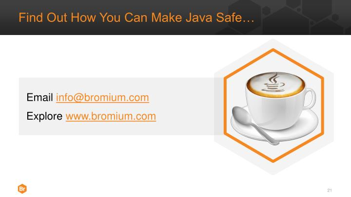 Find Out How You Can Make Java Safe…