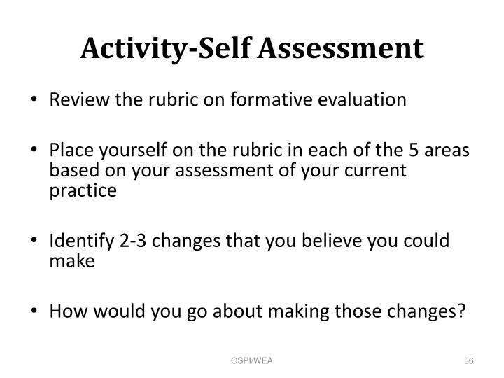 Activity-Self Assessment