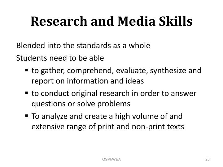 Research and Media Skills
