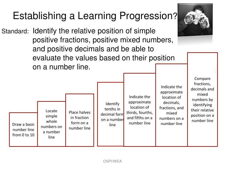Establishing a Learning Progression