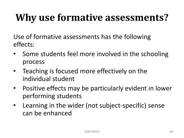 Why use formative assessments?