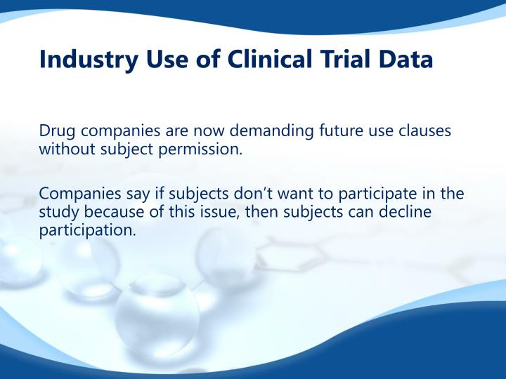 Industry Use of Clinical Trial Data