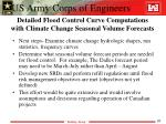 detailed flood control curve computations with climate change seasonal volume forecasts