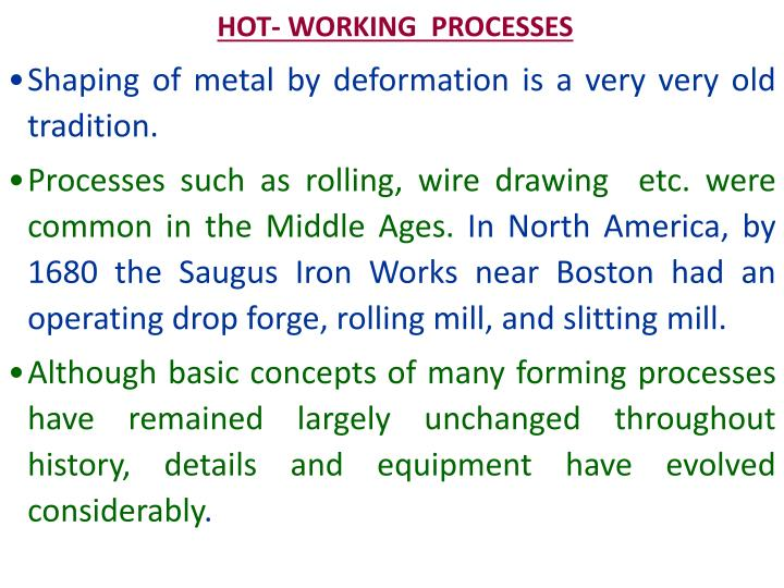 hot working processes n.