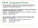 gr 10 geographical zones