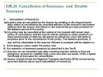 gr 24 cancellation of insurance and double insurance