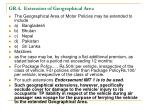 gr 4 extension of geographical area