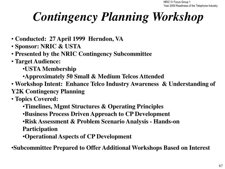 Contingency Planning Workshop