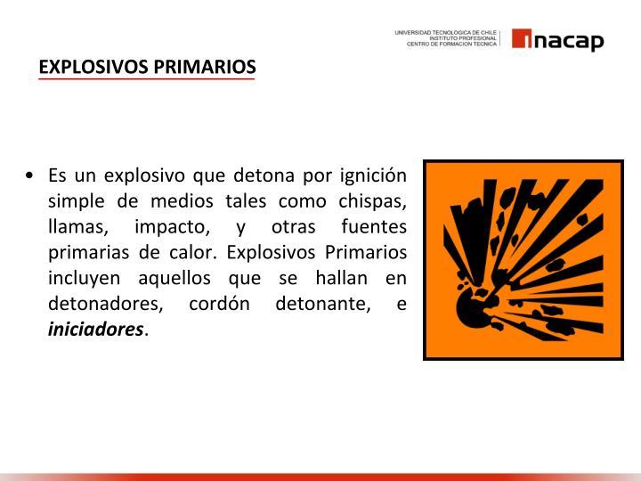 Explosivos primarios