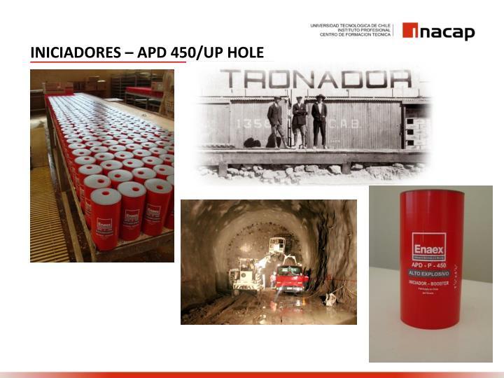 INICIADORES – APD 450/UP HOLE