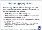 exercise applying this idea