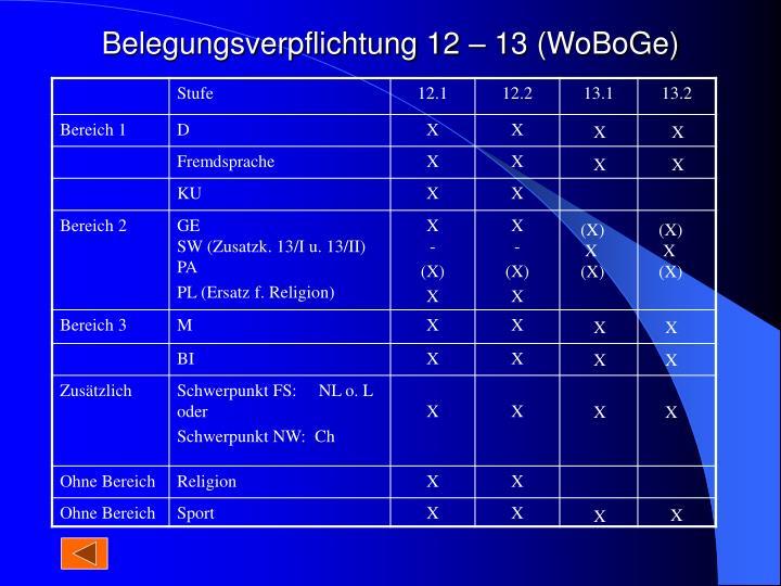 Belegungsverpflichtung 12 – 13 (WoBoGe)