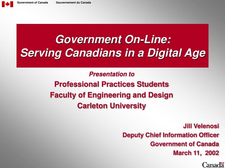 government on line serving canadians in a digital age n.