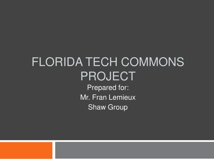 florida tech commons project n.