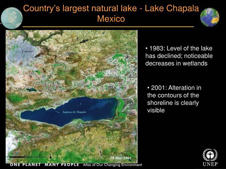 Country's largest natural lake - Lake Chapala