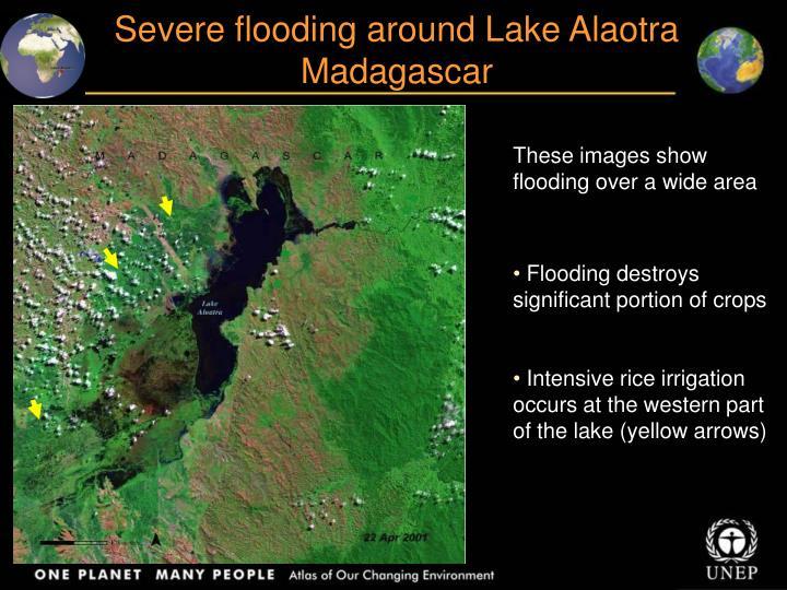 Severe flooding around Lake Alaotra