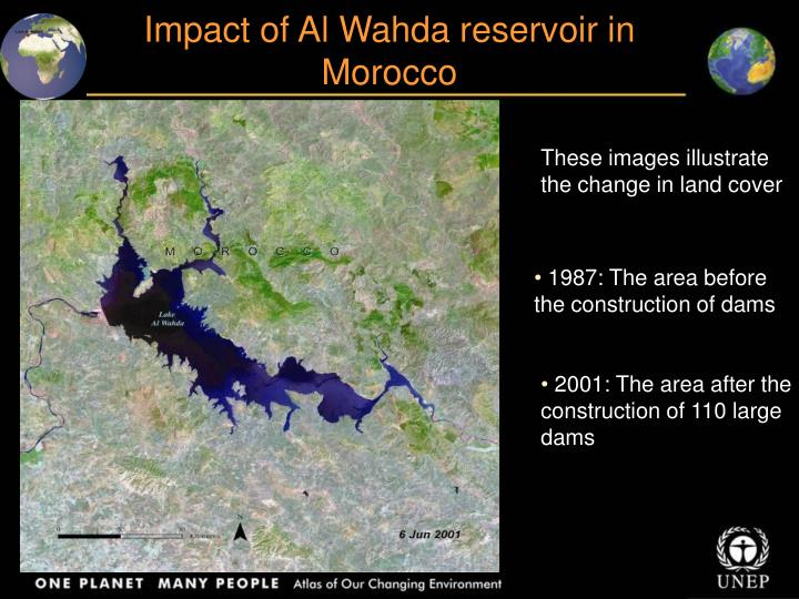 Impact of Al Wahda reservoir in Morocco