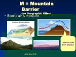 m mountain barrier the orographic effect