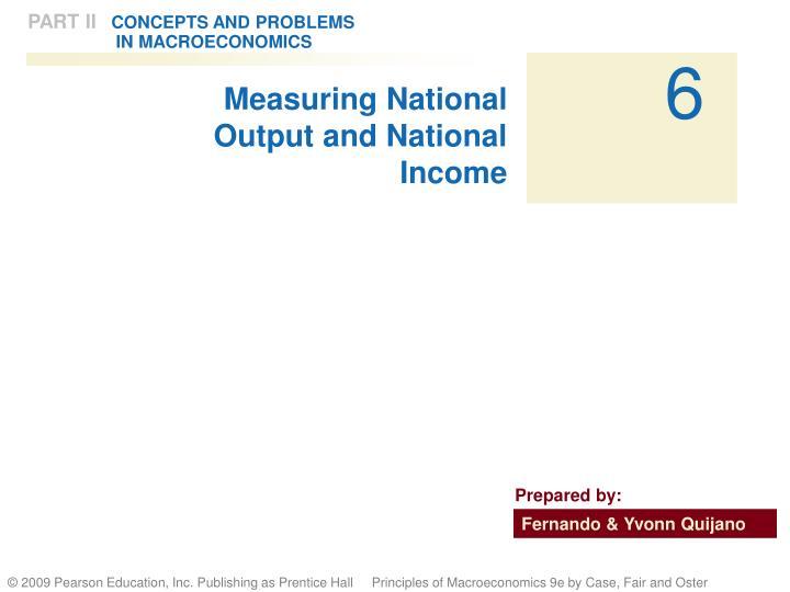 Measuring National