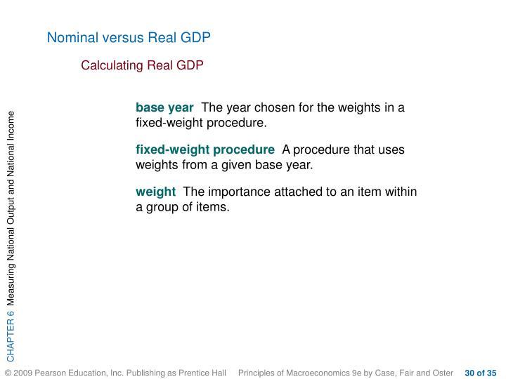 Nominal versus Real GDP