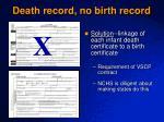 death record no birth record