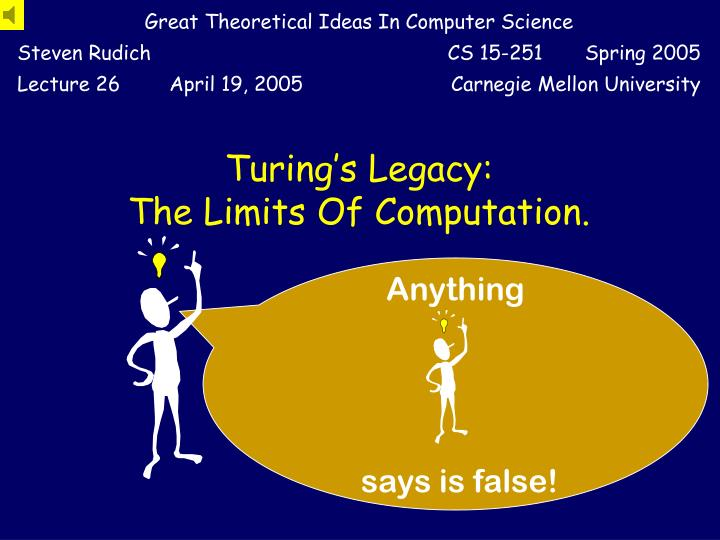 turing s legacy the limits of computation n.