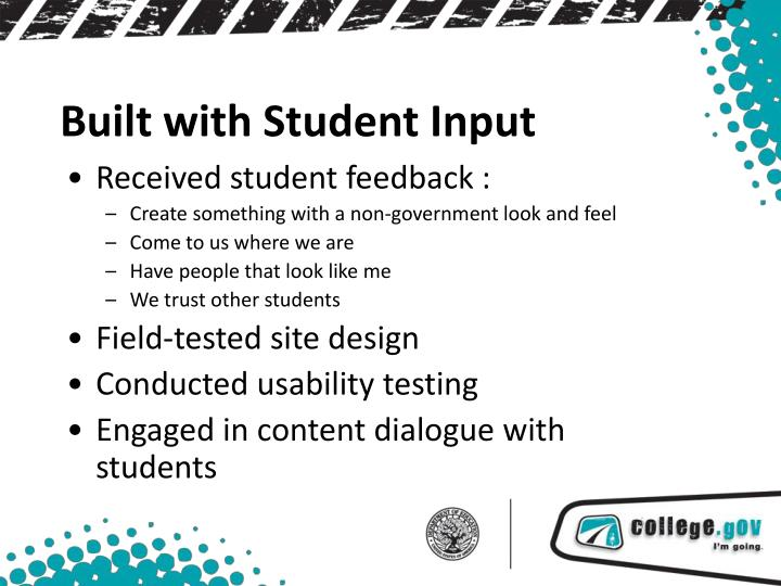 Received student feedback :
