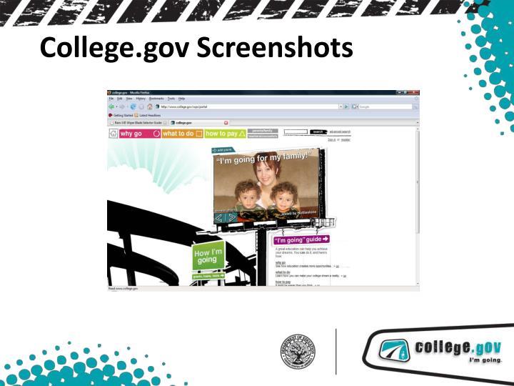 College.gov Screenshots
