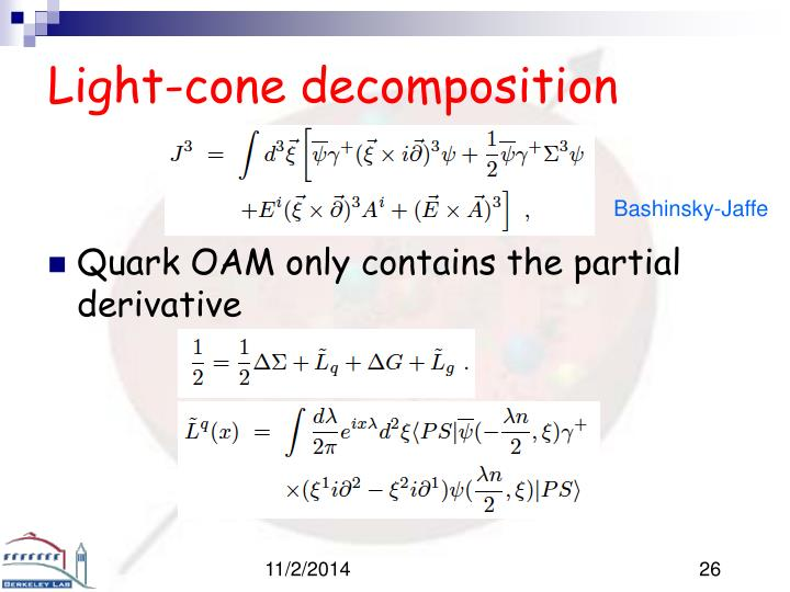 Light-cone decomposition