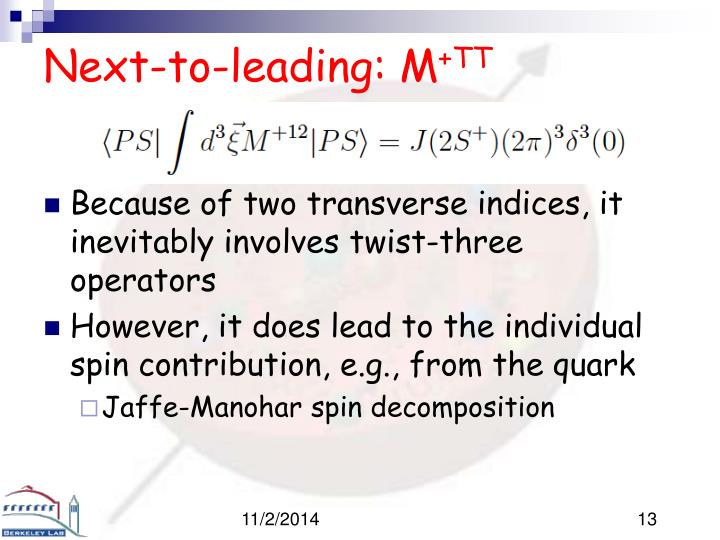Next-to-leading: M