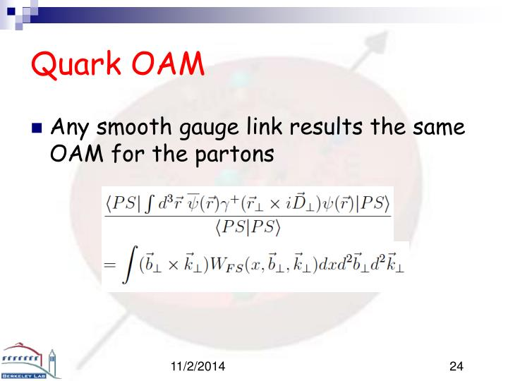 Quark OAM