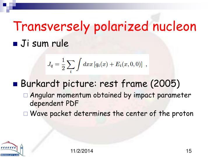 Transversely polarized nucleon
