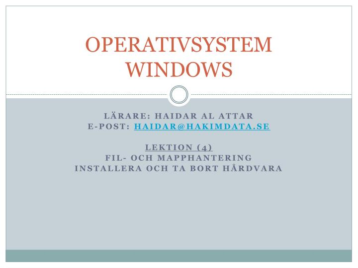 operativsystem windows n.