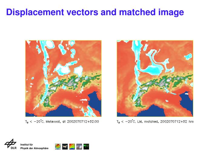 Displacement vectors and matched image