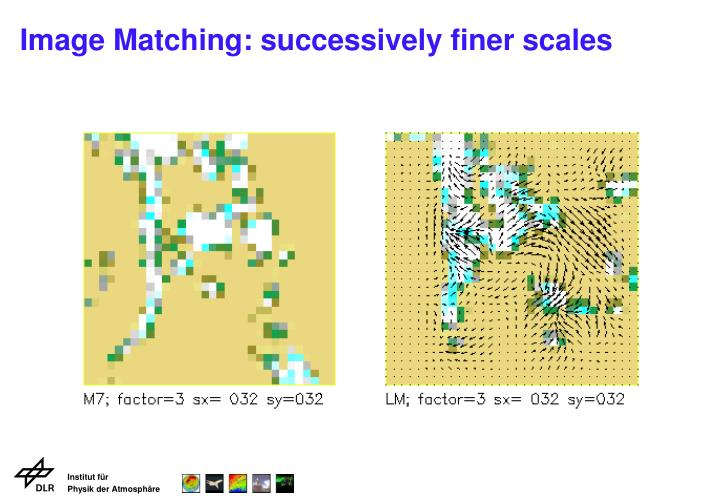 Image Matching: successively finer scales